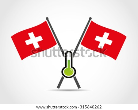 Switzerland Crossed Flag Emblem Normal Temperature