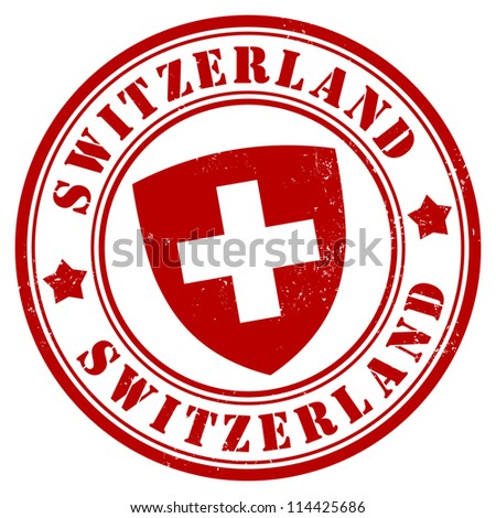 Switzerland stamp - stock vector