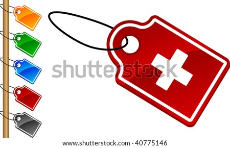 Switzerland tag set. Vector illustration.