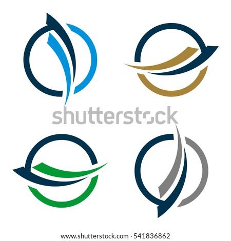 swoosh circle finance logo template stock photo photo vector rh shutterstock com swoosh logo nike swoosh login family member