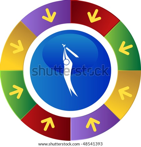 Sword action figure web button isolated on a background