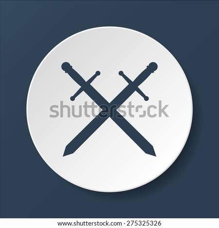 sword icon vector beautiful, isolated vector eps illustration - stock vector