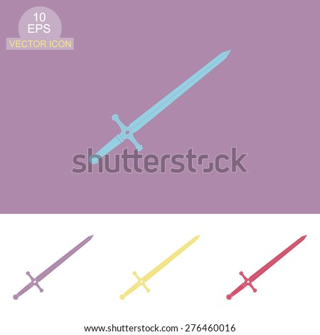 Sword vector icon. - stock vector