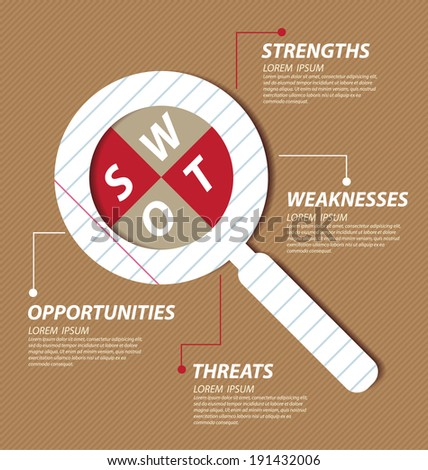 Swot analysis. Business concept vector. - stock vector