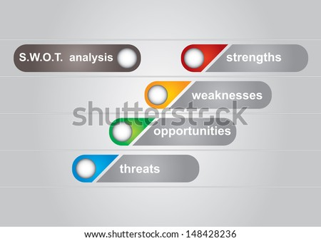 SWOT analysis diagram with abstract background  - stock vector
