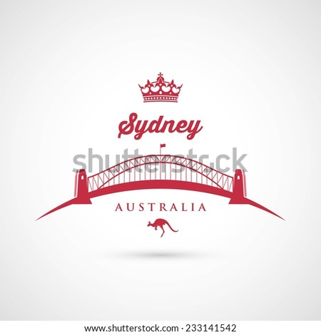 Sydney - Bridge symbol - vector illustration - stock vector