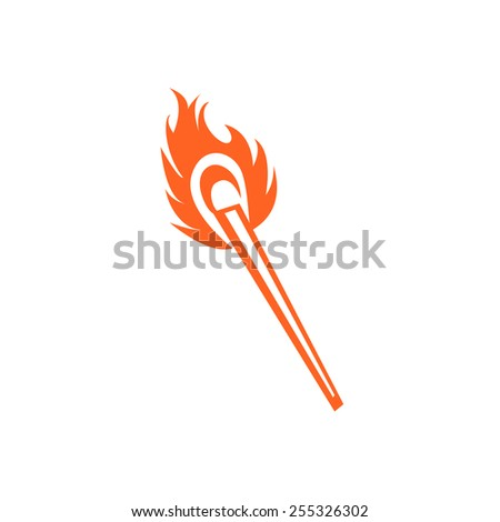 Symbol a burning matches