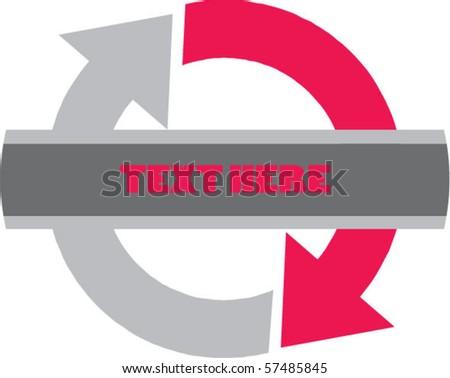 Symbol around - stock vector