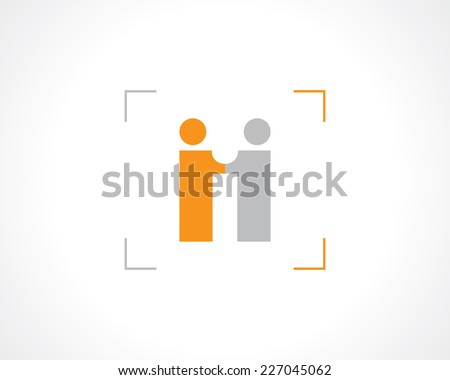 symbol business meeting or partnership. vector eps8 - stock vector