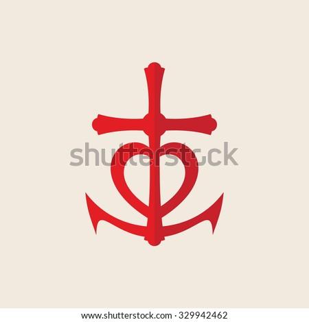 Symbol Faith Hope Love Stock Vector 329942462 Shutterstock