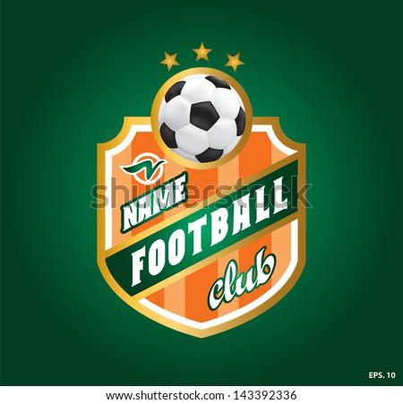 symbol football. football club (soccer). vector - stock vector