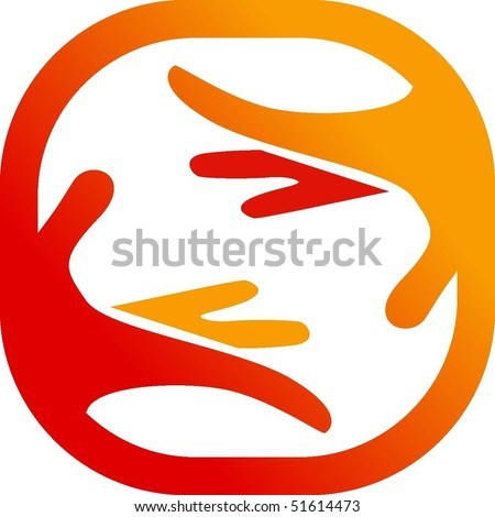 Symbol of a care - stock vector