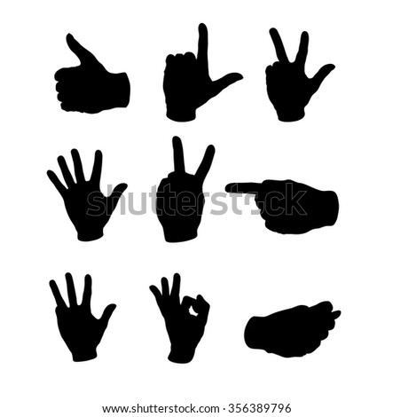 Symbol of a human hand, vector illustration, clip-art