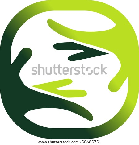 Symbol of a nature's care - stock vector