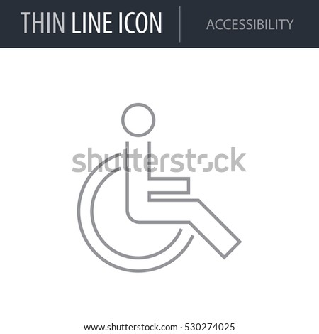 Symbol Accessibility Thin Line Icon Icons Stock Vector 530274025