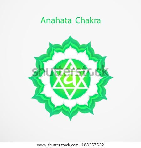 Symbol of Anahata chakra vector - stock vector