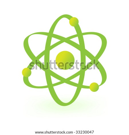 symbol of atomic technology isolated on white - stock vector