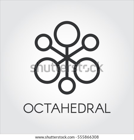Symbol Chemical Compound Octahedral Molecule Black Stock Vector