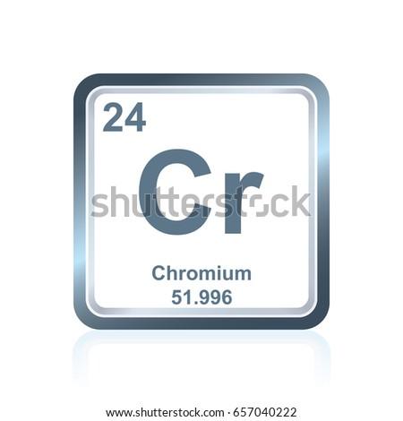 Symbol Chemical Element Chromium Seen On Stock Vector Royalty Free