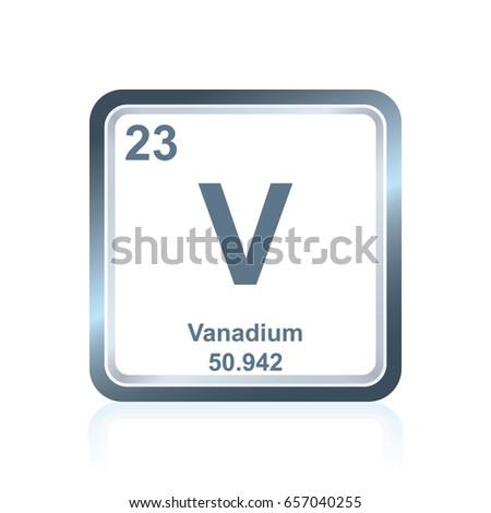 Vanadium Atomic Number Symbol Chemical Elemen...