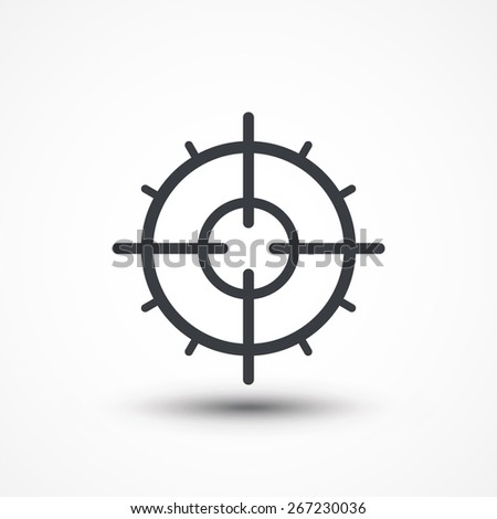 Symbol of crosshair in infographics style. Gun target icon. - stock vector