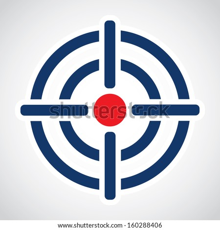 Symbol of crosshair in infographics style. Vector illustration - stock vector