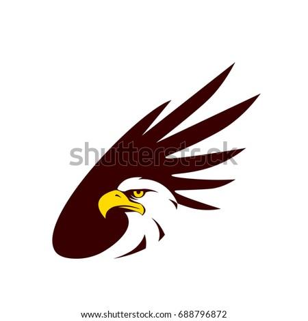 Symbol Eagle Hawk Predator Sport Team Stock Vector 688796872