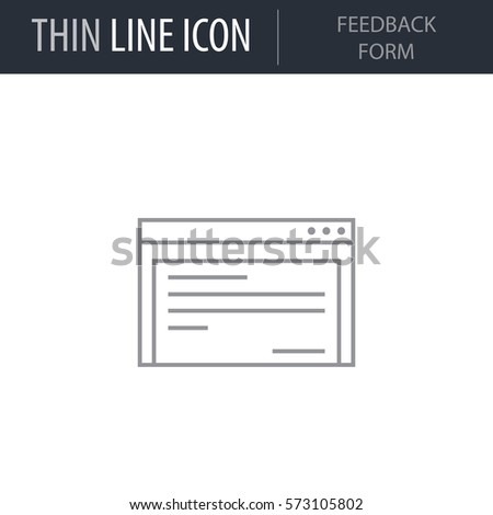 Symbol Feedback Form Thin Line Icon Stock Vector 573105802