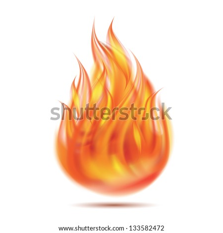 Symbol of fire on white background. Vector illustration - stock vector