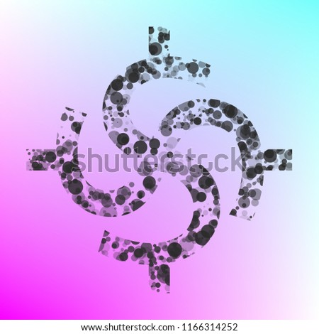 Symbol Hindu Dollars Signs Vector Flat Stock Vector Royalty Free