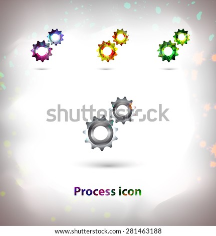 Symbol Mechanical Elements Stock Vector 281463188 Shutterstock