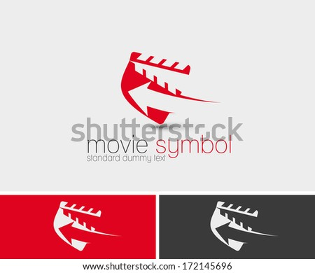 Symbol of Movie Maker, isolated vector design  - stock vector