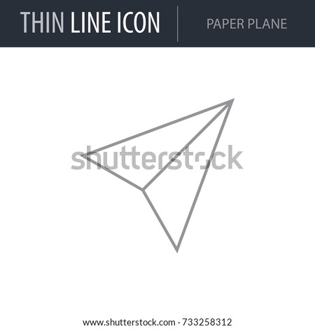 Symbol of Paper Plane. Thin line Icon of Multimedia.