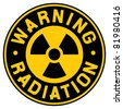 symbol of radiation - stock photo