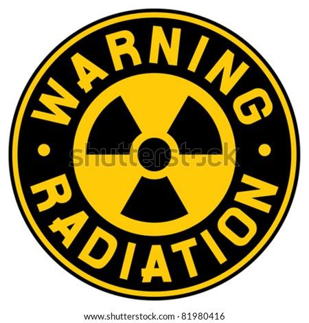 symbol of radiation - stock vector