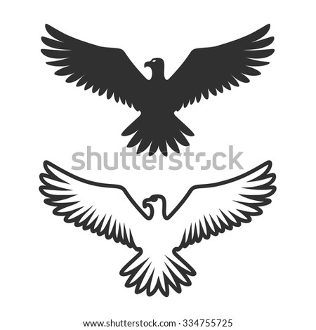 Symbol Eagle Sign Art Vector Illustration Stock Vector 334755725