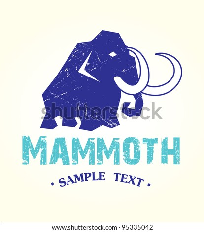 symbol of the mammoth - stock vector