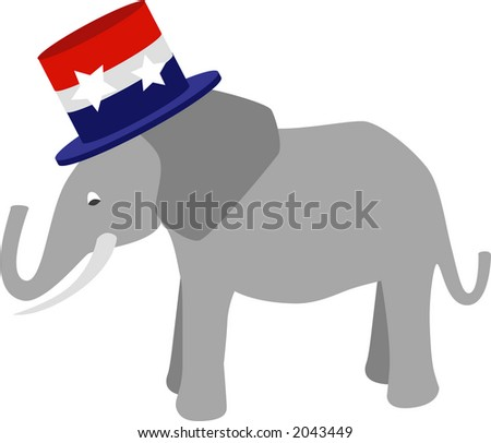 Symbol of the Republic Party (USA) fully editable vector drawing. - stock vector