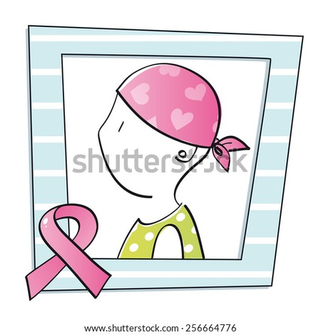 symbol of woman with cancer