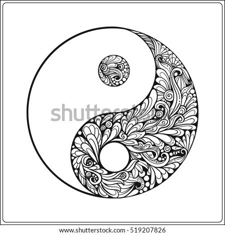 Yin stock images royalty free images vectors shutterstock Coloring book background