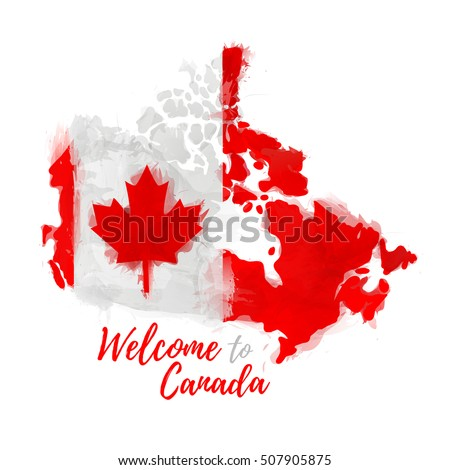 symbol poster banner canada map canada stock vector royalty free