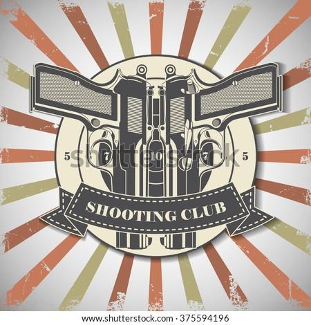 Symbol shooting club  - stock vector