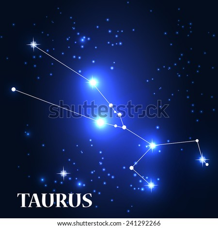 Symbol: Taurus Zodiac Sign. Vector Illustration. EPS10 - stock vector
