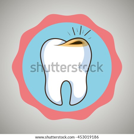 symbol tooth sick isolated icon design, vector illustration  graphic