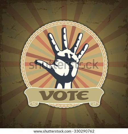 Symbol vote - stock vector