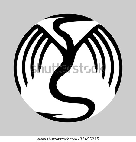 Symbolic dragon vector - stock vector