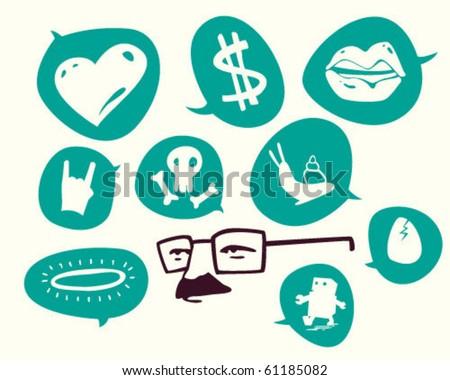 symbols. - stock vector