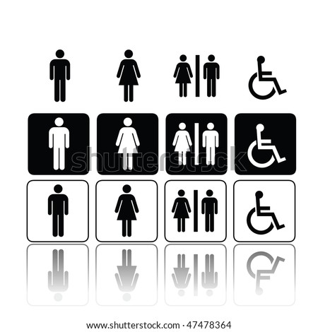 symbols for toilet  washroom  restroom  lavatory. Toilet Symbol Stock Images  Royalty Free Images   Vectors