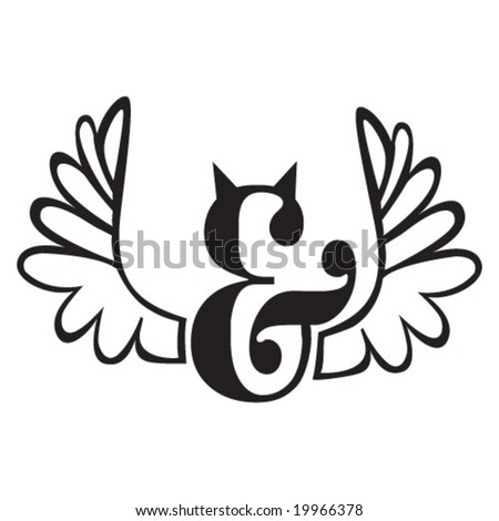 symbols of angel and devil - stock vector