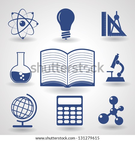 Symbols Education Vector Icons Set Eps 10 Stock Vector 131279615